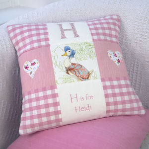 Beatrix Potter © Alphabet Cushion - baby's room