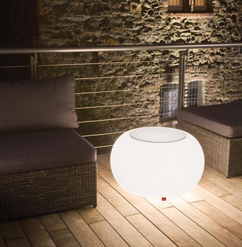 Outdoor Light Up Globe Table Or Seat