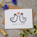 Lovebirds Wedding And Engagement Card
