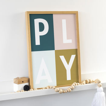 Play Pop Art Nursery Print
