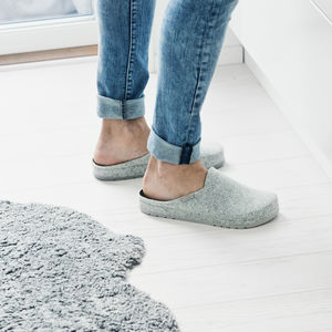 Shepherd Felt Grey Slippers - women's fashion