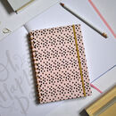 Wiro Bound Dots Peach A5 Notebook