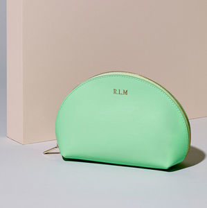 Personalised Make Up Bag - top leather accessories