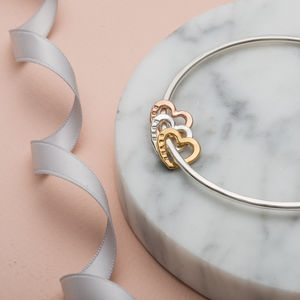 Personalised Heart Bangle - jewellery