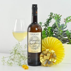Personalised Christmas Sherry Bottle - wines, beers & spirits