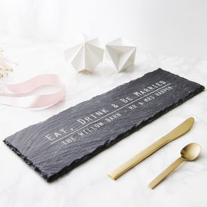 Slate Personalised Cheese Board - weddings sale
