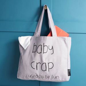 'Baby Crap… I Used To Be Fun' Tote Bag - stocking fillers under £15