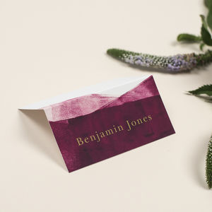 Berry And Gold 'Grace' Wedding Place Cards