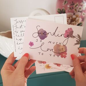 'Sending So Much Love To You' Friendship Postcard