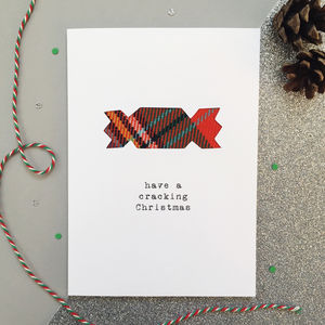Funny Tartan Cracker Scottish Christmas Card
