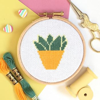 Houseplant Cross Stitch Kit