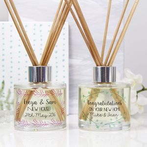 Personalised New Home Reed Diffuser Gift Set
