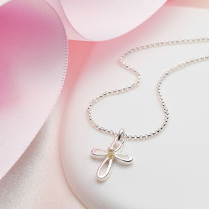 Pearl Cherish Cross Necklace