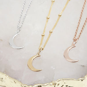 Mini Crescent Moon Necklace - modern-boho