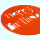 Happy Birthday Cake Stencil