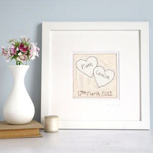 Personalised Wedding Picture - textile art