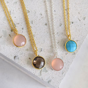 Round Gemstone Necklace
