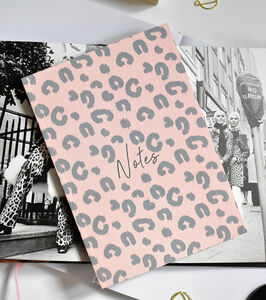 Notebook Pink Leopard Print 'Notes'