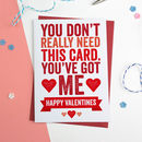 Bold Personalised Valentines Card