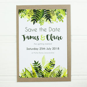Save The Date Botanical Spring Wedding