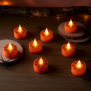 Halloween Spider Web LED Tea Light Candles