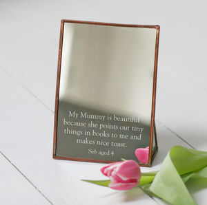 Personalised Copper Mothers Day Mirror - mirrors