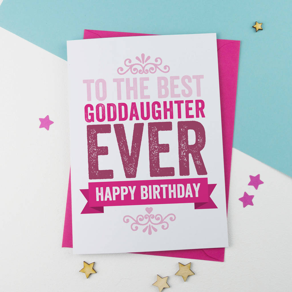 Birthday Card For Goddaughter By A Is Alphabet