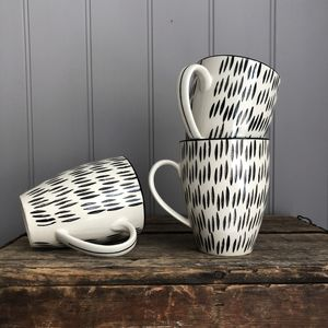 Black And White Patterned Mug - kitchen
