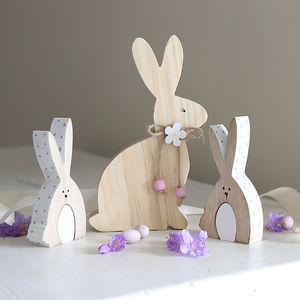 Wooden Bunny Decoration - easter decorations