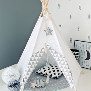 Geometric White Mist Teepee - gifts for babies & children