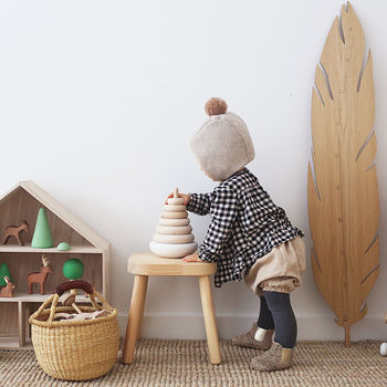 Wooden Pyramid Stacking Toy