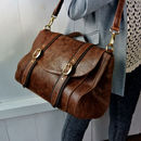 Brown Leather 'Brix' Bag
