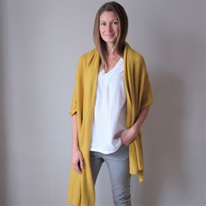 100% Cashmere Wrap Shawl - keeping cosy