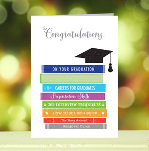 'Congratulations On Your Graduation' Card - graduation cards