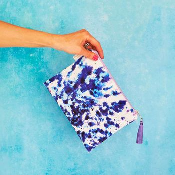 Mesmerise Velvet Clutch Bag Or Cosmetic Pouch