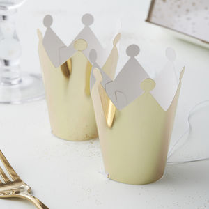 Gold Foiled Mini Party Crown Hats