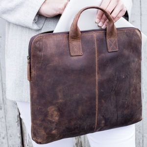 Leather Laptop Portfolio Case
