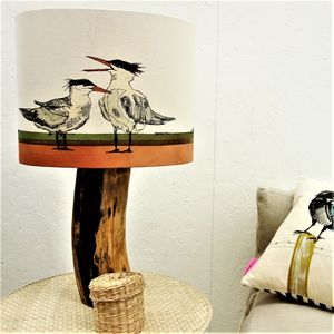 Bird Lampshade With Turns On The Beach