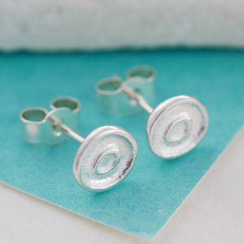 Handmade Silver Little Dot Studs