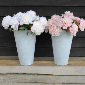 Artificial Pink And White Peony Stems - artificial flowers