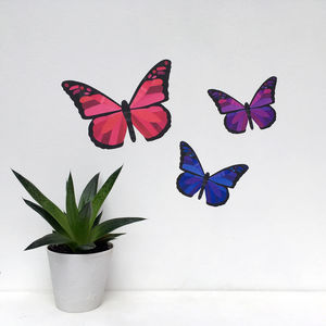 Pink And Purple Butterfly Wall Stickers