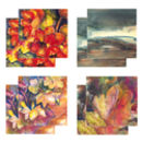 Eight Fine Art Watercolour Gift Cards Pack C