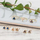 Gold Triangle Druzy Rings