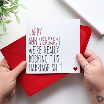 'Rocking This Marriage Shit' Anniversary Card