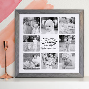 Personalised Message Family Collage Canvas Or Print - canvas prints & art