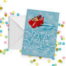 Father's Day Dog In A Red Plane Card
