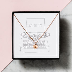Just My Type Necklace Gift Box