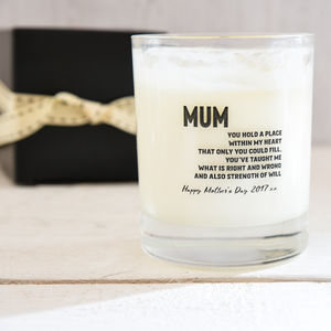 Personalised Scented Candle For Mum - candles & home fragrance