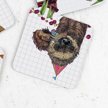 Party Sloth Drinks Coaster