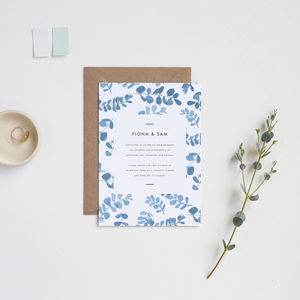 Greecian Eucalyptus Wedding Invitations - invitations